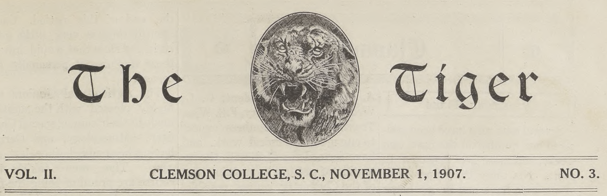 Tiger Newspapers 1917