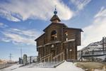 """NORILSK GOLGOTHA"" Memorial, Wooden Gateway with Bells"