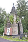 PREOBRAZHENSKOE JEWISH CEMETERY, SOUTH AREA, GOTHIC REVIVAL MAUSOLEUM by William C. Brumfield