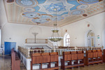 Soldatskaia Synagoga (Soldiers Synagogue), Interior, Sanctuary, Gallery With Ceiling & View Toward Menorah