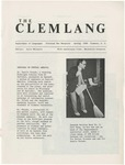 The Clemlang, Spring 1986 by Department of Languages, Clemson Univeristy