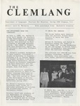 The Clemlang, Spring 1985 by Department of Languages, Clemson Univeristy