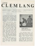 The Clemlang, Spring 1982 by Department of Languages, Clemson Univeristy