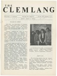 The Clemlang, Spring 1981 by Department of Languages, Clemson Univeristy
