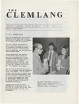 The Clemlang, Fall 1987 by Department of Languages, Clemson Univeristy