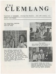 The Clemlang, Fall 1986 by Department of Languages, Clemson Univeristy