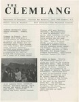 The Clemlang, Fall 1984 by Department of Languages, Clemson Univeristy