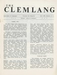 The Clemlang, Fall 1981 by Department of Languages, Clemson Univeristy
