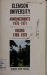 Clemson Catalog, Vol. XLV - No. 2