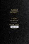 Clemson Catalog, Vol 55