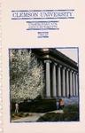 Clemson Catalog, Vol 61