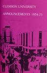 Clemson Catalog, 1974-1975, Volume 49
