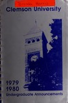 Clemson Catalog, 1979-1980, Volume 54 by Clemson University