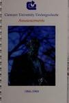 Clemson Catalog, 1988-1989, Volume 63