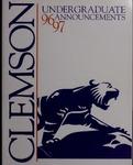 Clemson Catalog, 1996-1997, Volume 71