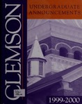Clemson Catalog, 1999-2000, Volume 74
