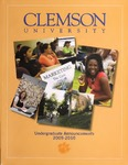 Clemson Catalog, 2009-2010, Volume 84