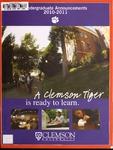 Clemson Catalog, 2010-2011, Volume 85 by Clemson University