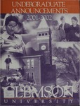 Clemson Catalog, 2001-2002, Volume 76 by Clemson University