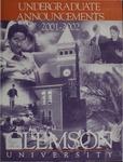 Clemson Catalog, 2001-2002, Volume 76
