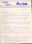 Clemson Newsletter, 1961-1963