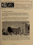 Clemson Newsletter, 1969-1971 by Clemson University