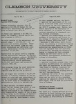 Clemson Newsletter, 1973-1974 by Clemson University