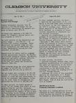 Clemson Newsletter, 1973-1974