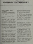 Clemson Newsletter, 1974-1975 by Clemson University