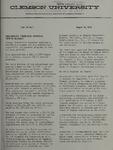 Clemson Newsletter, 1974-1975