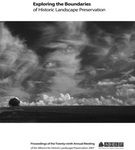 Exploring the Boundaries of Historic Landscape Preservation by Cari Goetcheus and Eric MacDonald