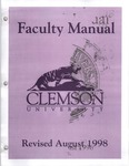 Faculty Manual, 1998 by Clemson University