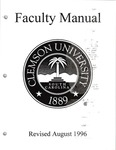 Faculty Manual, 1996 by Clemson University