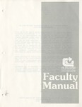 Faculty Manual, 1988