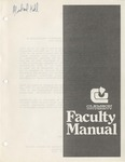 Faculty Manual, 1982