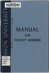 Faculty Manual, 1972