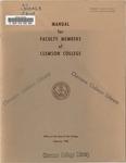 Faculty Manual, 1960