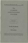 Faculty Manual, 1948