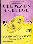 NC State vs Clemson (10/7/1933)