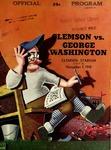 George Washington vs Clemson (11/7/1942) by Clemson University