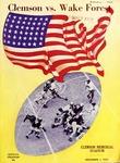 Wake Forest vs Clemson (12/1/1945) by Clemson University