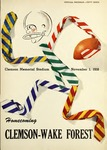 Wake Forest vs Clemson (11/1/1958)