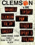 Duke vs Clemson (10/14/1972)