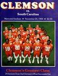 South Carolina vs Clemson (11/24/1984)