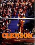 Virginia vs Clemson (10/12/1985) by Clemson University