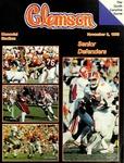 North Carolina vs Clemson (11/8/1986) by Clemson University