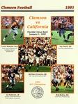 California vs Clemson (1/1/1992) by Clemson University