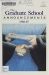Clemson Graduate School Catalog, 1986-1987 by Clemson University
