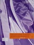 Clemson Graduate School Catalog, 1996-1997
