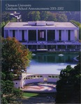 Clemson Graduate School Catalog, 2001-2002